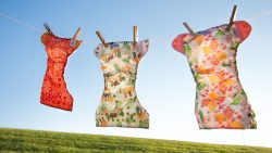 Line drying cloth diapers