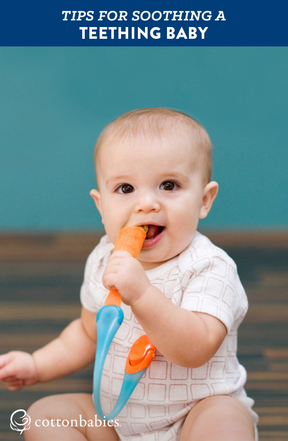 Top tips for soothing a teething baby.