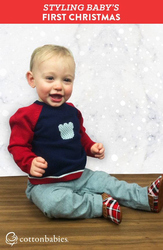 Make baby's first Christmas as stylish as it is memorable. Shop our holiday styles now. #cottonbabies