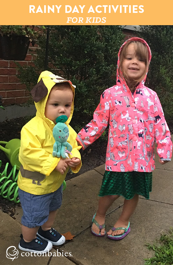 A list of rainy day activities for you and your kids to have fun on a rainy day.