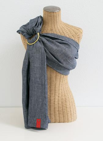 Sakura Bloom Chambray Linen Ring Sling