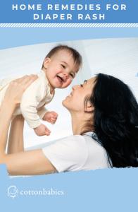 Home remedies for treating diaper rash.