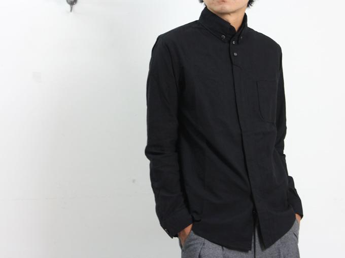 nisica(ニシカ) ボタンダウンシャツ 別注ブラック