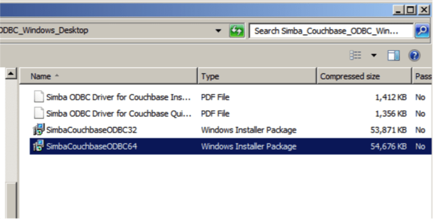 Getting Started with the SIMBA Couchbase ODBC Driver | The Couchbase
