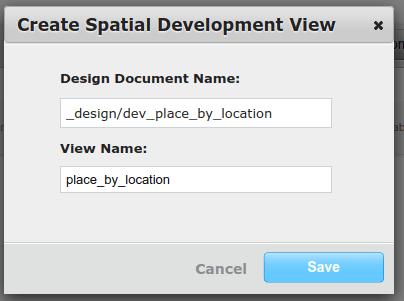 Create Spatial Development View