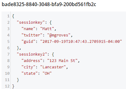 Two distributed session keys