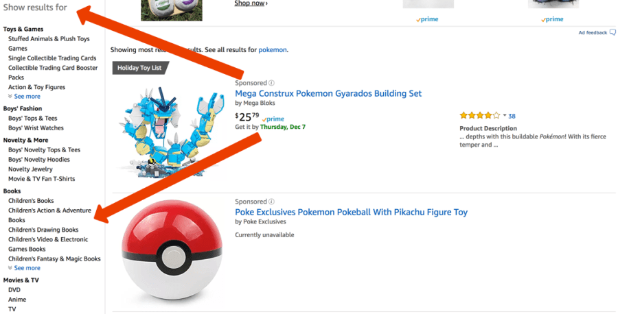Amazon Facet Search Example