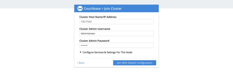Couchbase Join Cluster