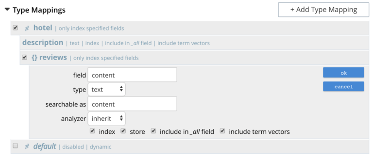 field indexing options screenshot - Full Text Search Indexing Best Practices