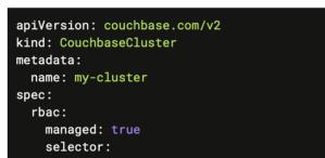 Couchbase Autonomous Operator RBAC management