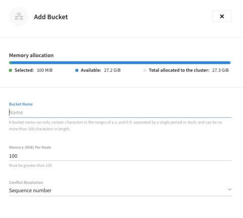 Bucket database migration in Couchbase Cloud