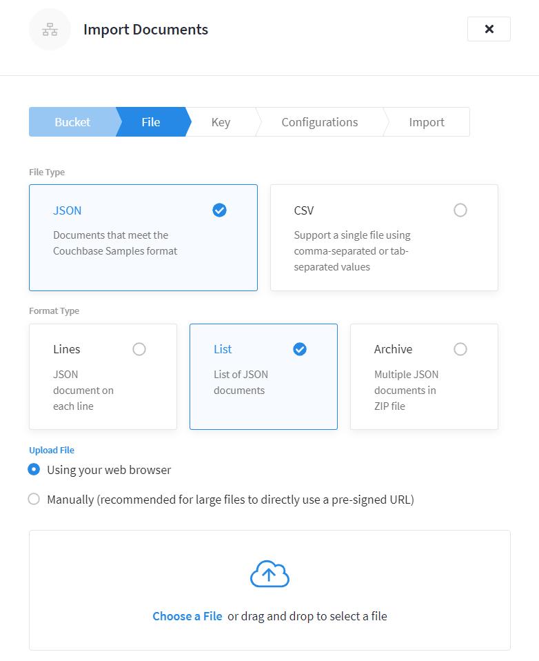 Couchbase Cloud Import