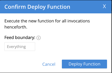 Confirm deploy function Couchbase