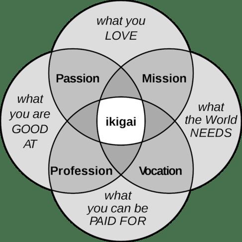 représentation de l'ikigai