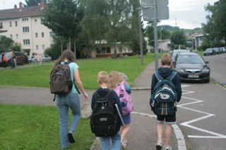 We carpooled with another little boy going to the same school.