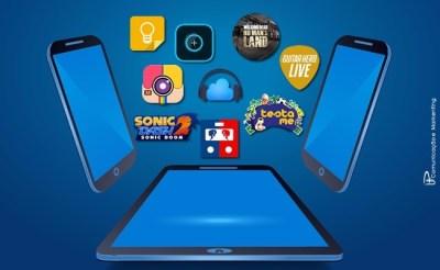 Apps mais acessados de entretenimento e jogos
