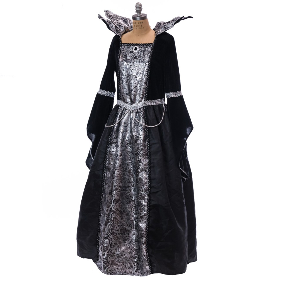 Black and Silver Adult Witch Costume