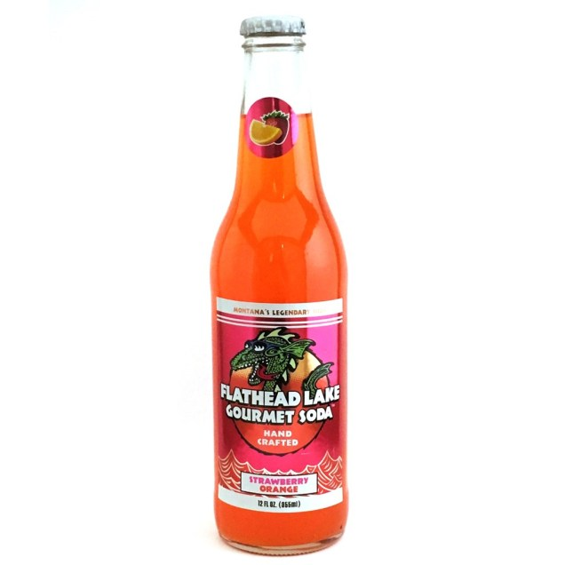 Flathead Lake Strawberry Orange Craft Soda