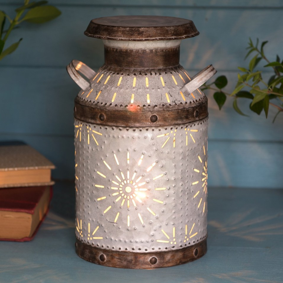 Metal Milk Can Accent Light