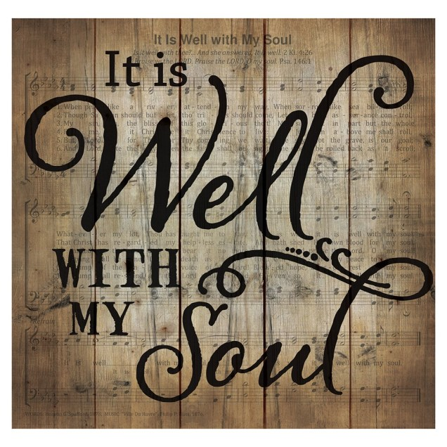 """It Is Well With My Soul"" Pallet Wall Decor"
