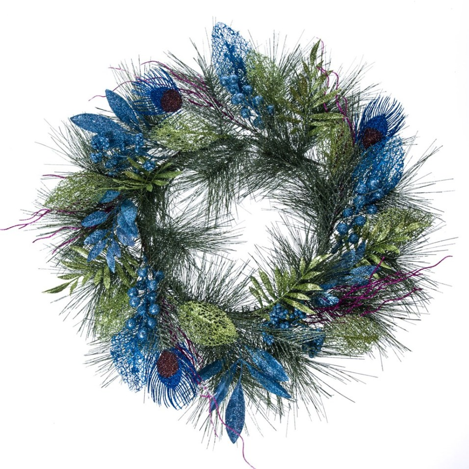 Glitter Peacock Wreath