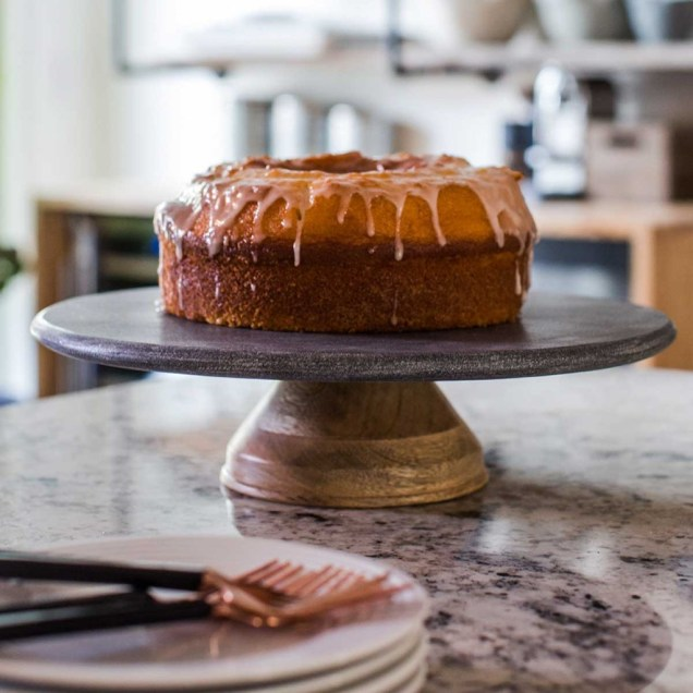 Oh Gussie! Marble and Mango Wood Cake Stand