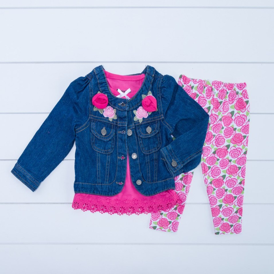 Denim Jacket and Legging Set