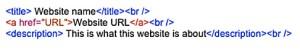 My XML Bookmark format