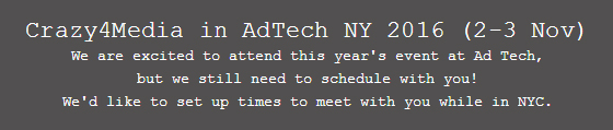 come and meet us adtech nyc