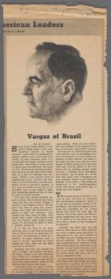 """""""Vargas do Brasil"""", publicado pela revista do New York Times em 11 de janeiro de 1942. New York Public Library, domínio público. (Foto: Reprodução/Biblioteca Pública de Nova Iorque)"""