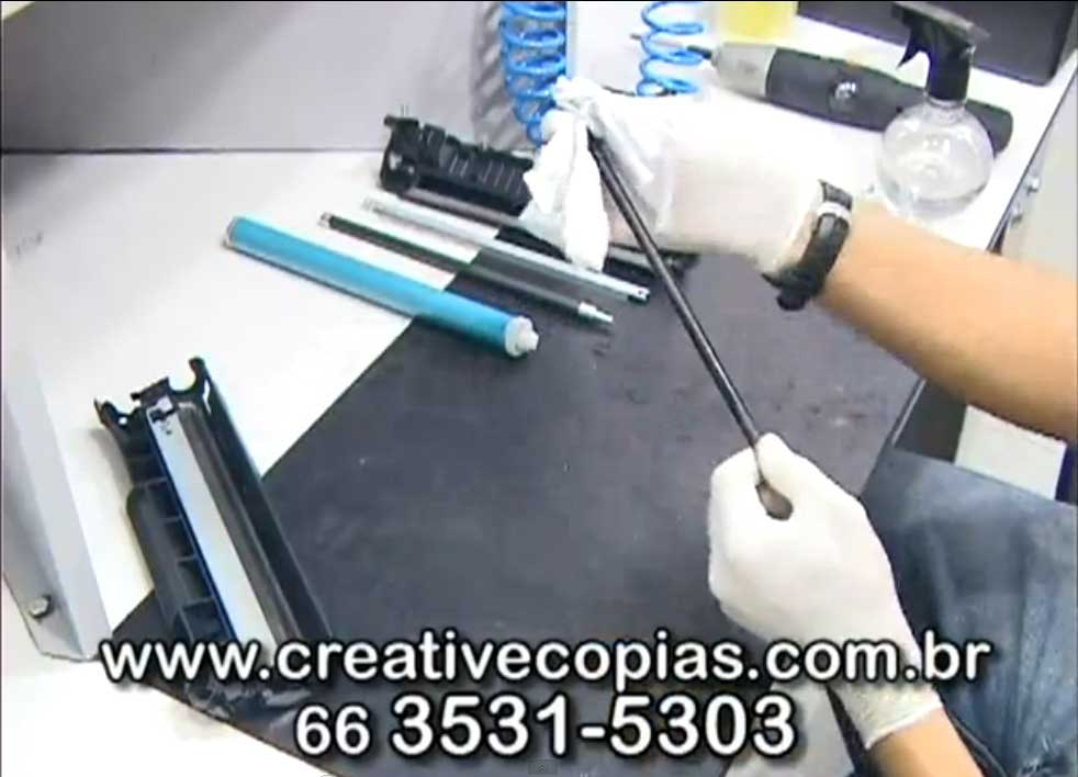 Limpeza do PCR do toner CE285A