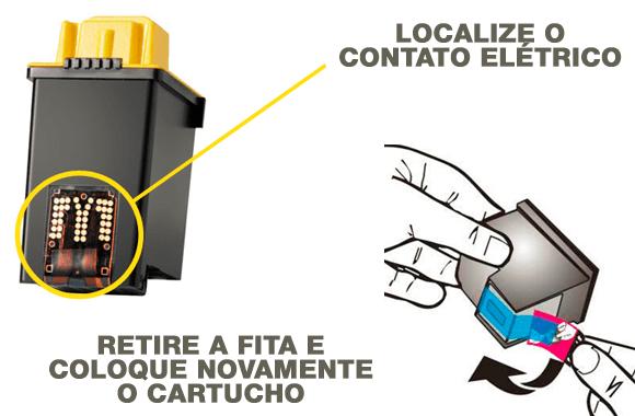 Problemas com cartucho de tinta: verifique o circuito elétrico