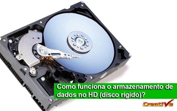Como funciona o armazenamento de dados no HD (disco rígido)?