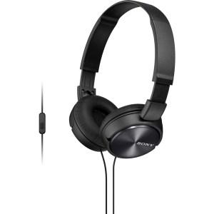 Fone de Ouvido Headphone MDR-ZX310 Dobrável com Microfone Preto