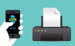 impressora conectada com celular