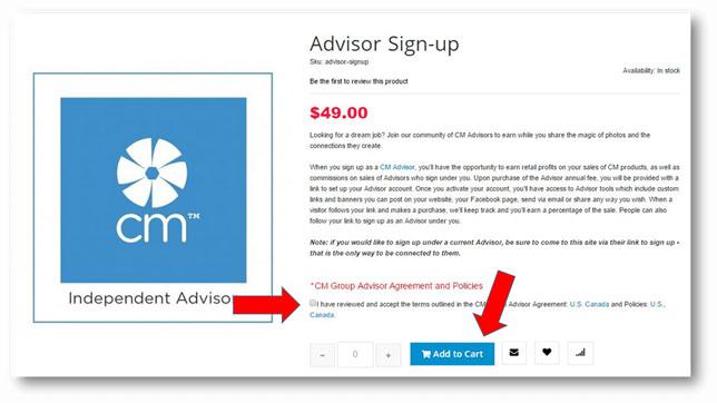 Steps to become a CM Advisor
