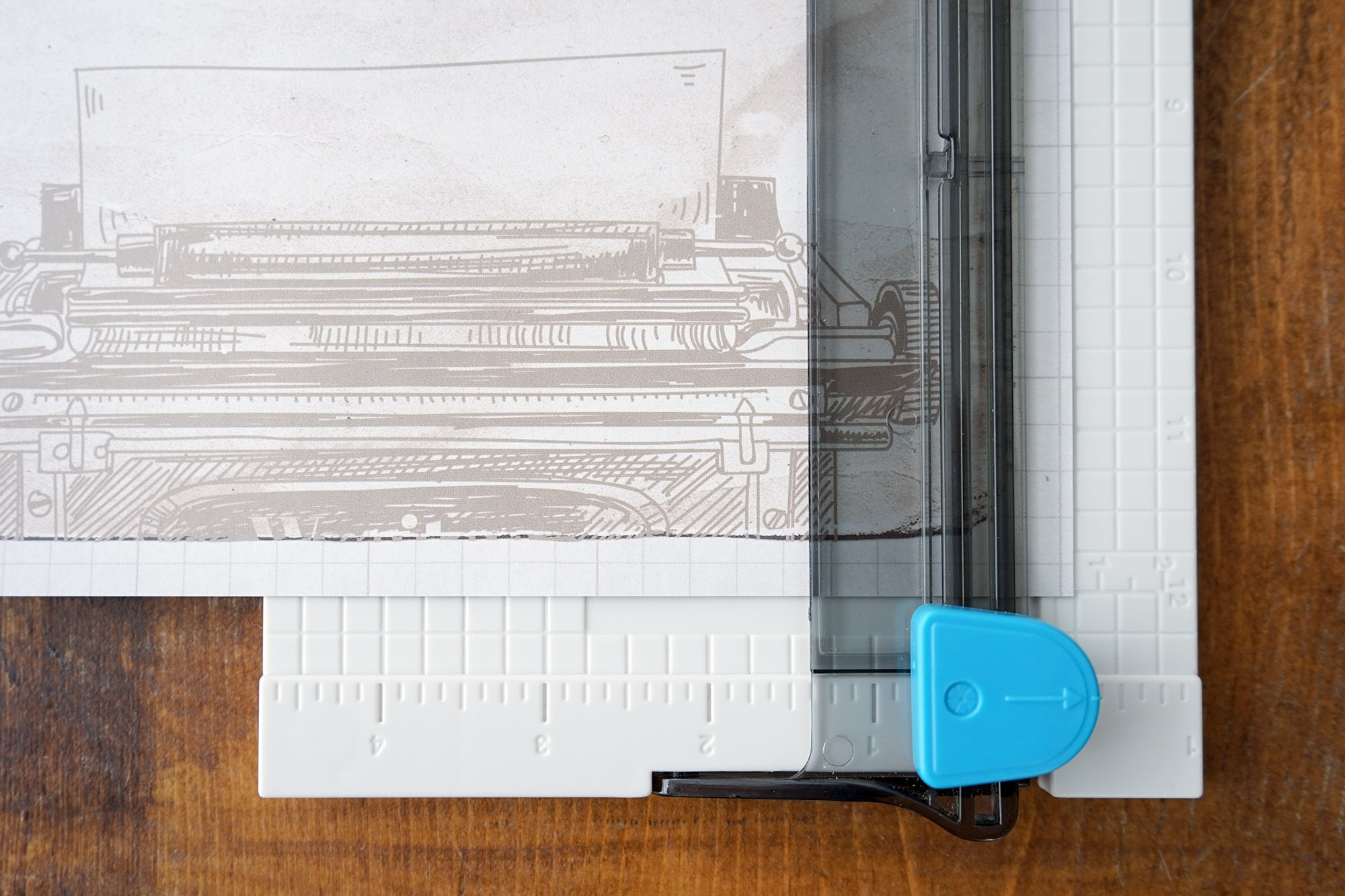 12-inch Trimmer with Typewriter paper