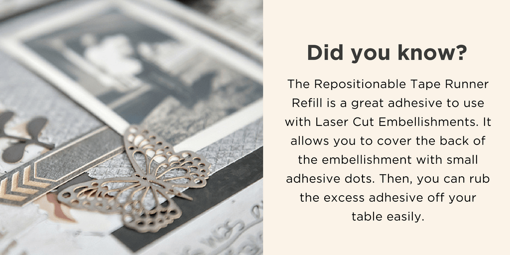 Archivers Laser Cut Embellishments with Repositionable Tape
