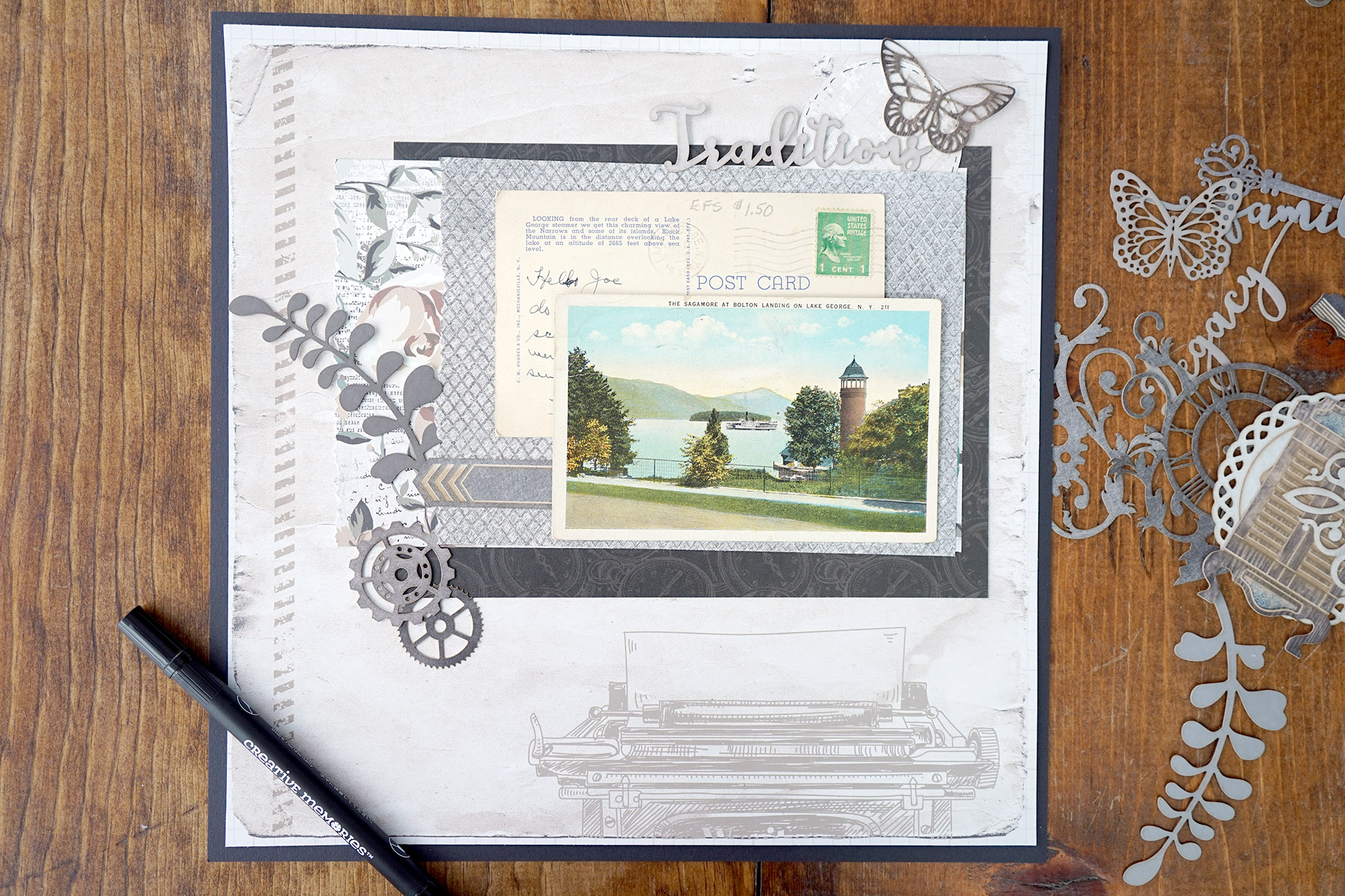 Traditions Layout with Archivers Scrapbook Collection