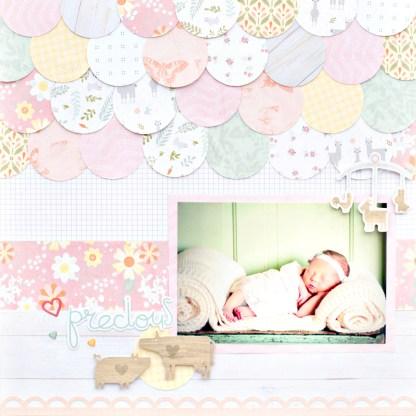 Little-Lamb-Baby-Girl-Paper-Pack-Layout-Creative-Memories