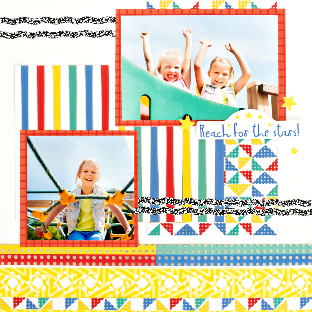 Essentials-Foil-Paper-Sunshine-Border-Maker-Cardtridge-Scrapbook-Layout-Creative-Memories