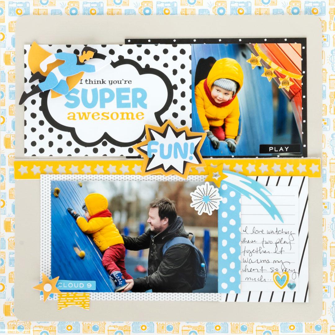 Imagine-That-Superhero-Scrapbook-Layout-Creative-Memories