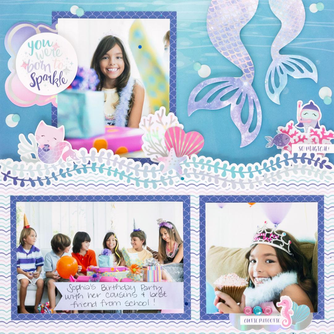 Mermaid-Cove-Scrapbook-Layout-Creative-Memories