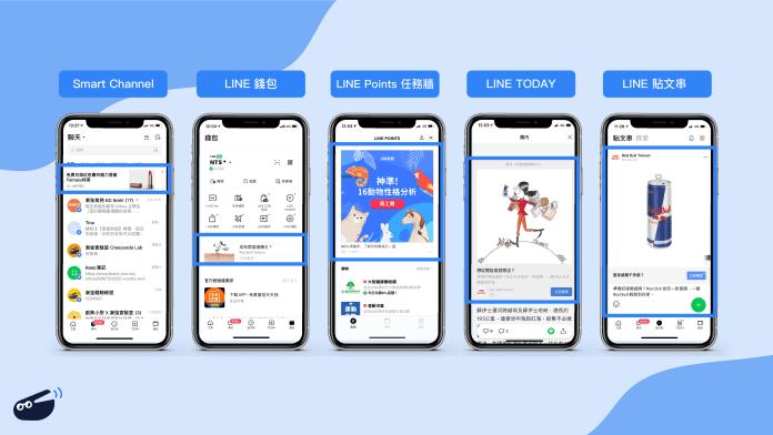 LINE LAP版面:Smart Channel、LINE 錢包、LINE Points 任務牆、LINE Today、貼文串
