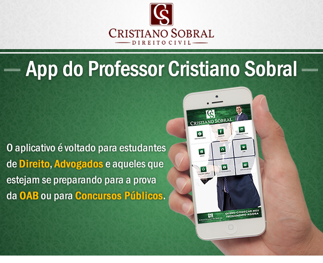 App do Professor Cristiano Sobral