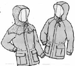 how to sew a uni sex waterproof parka