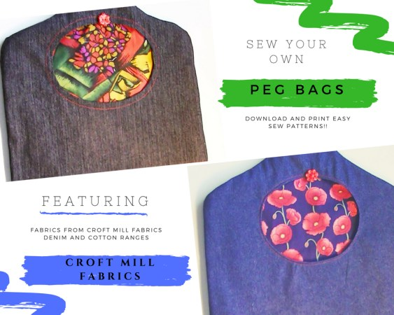 Croft Mill Fabrics Peg Bag