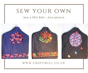 croft mill fabric sew your own peg bag