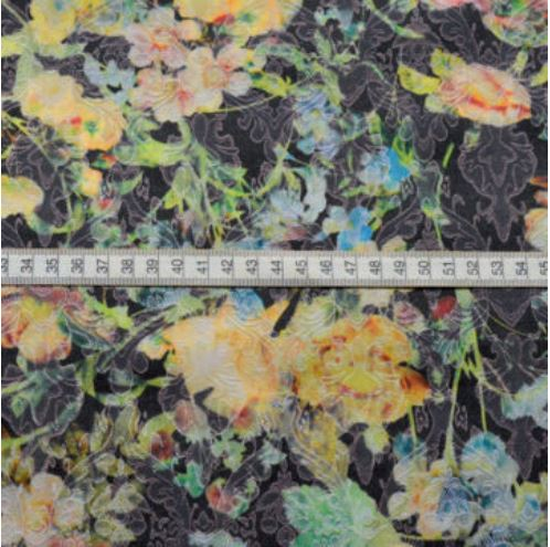 Barrier Reef - Floral Multicoloured Cotton Polyester Mix Trousering Jacketing Fabric