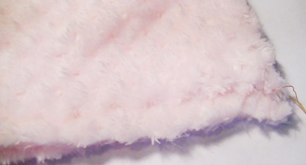 After sewing together, fleece can have a bulky seam